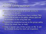 unit safety program part 3 annual safety surveys