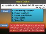 hadis shahih