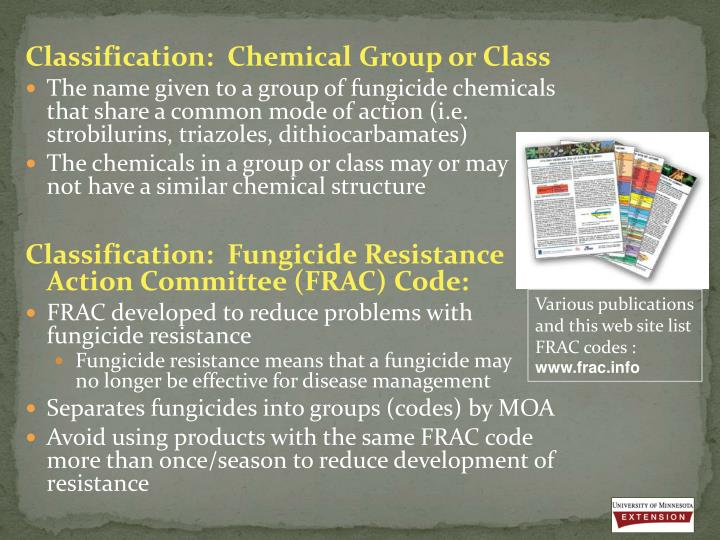 fungicide training behavior panel classification essay