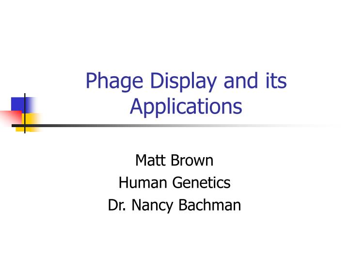 phage display and its applications n.