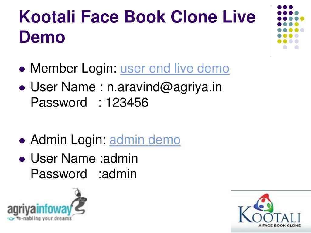 Kootali Face Book Clone Live Demo