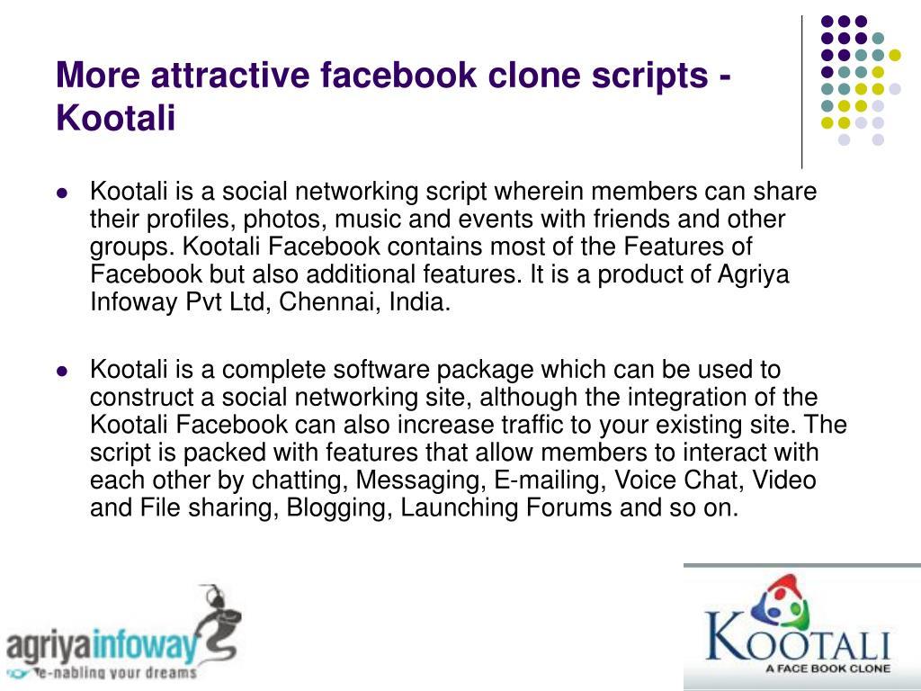 More attractive facebook clone scripts - Kootali