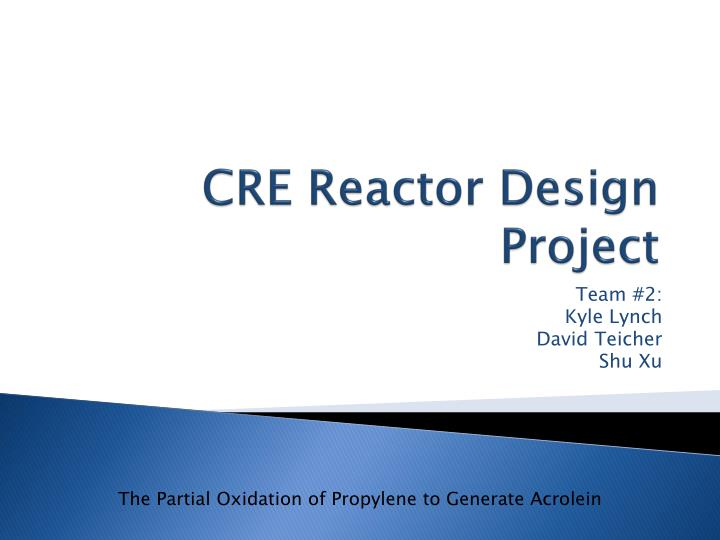 cre reactor design project n.