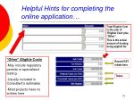 helpful hints for completing the online application18