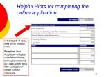 helpful hints for completing the online application19