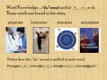 word knowledge sh sound spelled ti ci or sh these words are found in the story