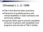 olmstead v l c 1999