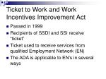 ticket to work and work incentives improvement act