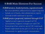 s bar main elements for success1