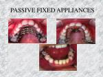passive fixed appliances
