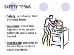 safety terms