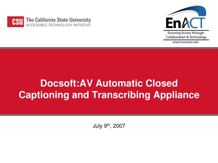 docsoft av automatic closed captioning and transcribing appliance n.