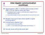 inter applet communication continue