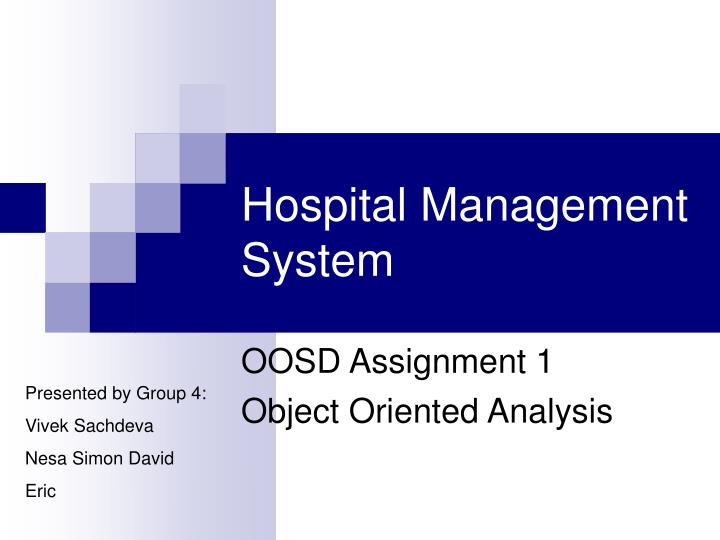 oosd assignment 1 object oriented analysis n.