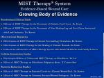 mist therapy system evidence based wound care