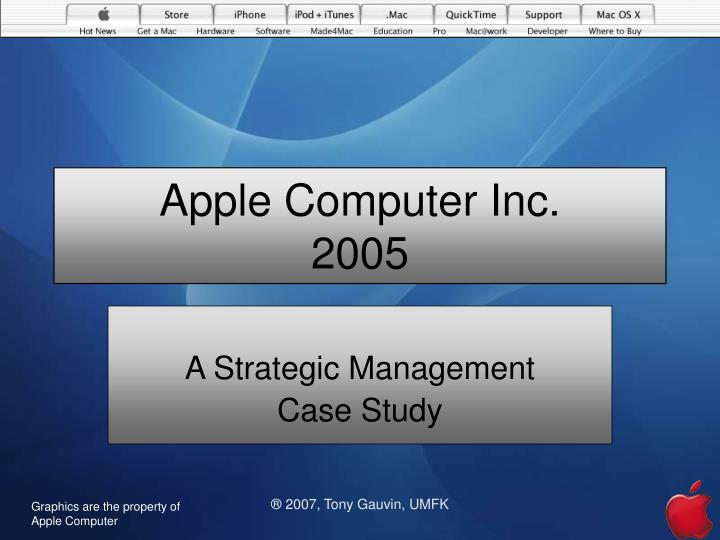 case study on strategic management of apple