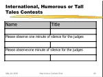 international humorous or tall tales contests
