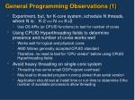 general programming observations 1
