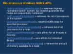 miscellaneous windows numa apis