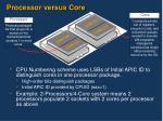 processor versus core