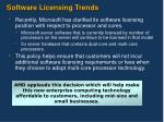 software licensing trends