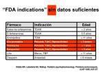 fda indications sin datos suficientes