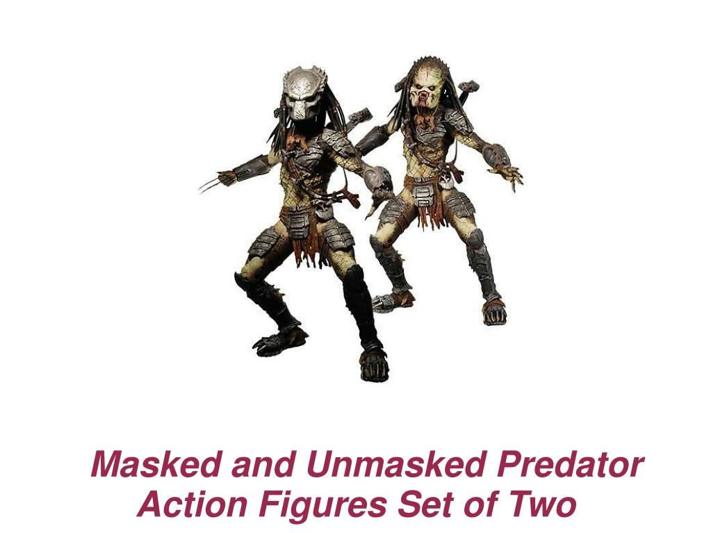 Masked and Unmasked Predator Action Figures Set of Two