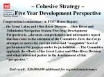 cohesive strategy five year development perspective1