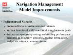 navigation management model improvements2