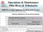 operations maintenance ohio river tributaries