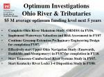 optimum investigations ohio river tributaries
