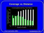 coverage vs distance