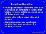 location allocation