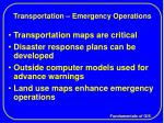 transportation emergency operations