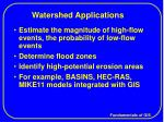 watershed applications