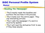 disc personal profile system humor3