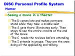 disc personal profile system humor4