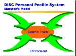 disc personal profile system marston s model1