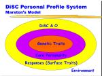 disc personal profile system marston s model4