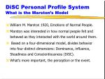 disc personal profile system what is the marston s model