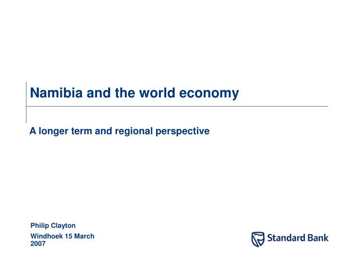 namibia and the world economy n.