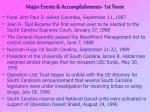 major events accomplishments 1st term