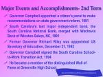 major events and accomplishments 2nd term