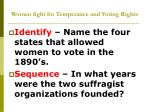 women fight for temperance and voting rights1