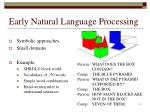 early natural language processing