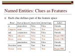 named entities clues as features