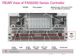 rear view of fas6000 series controller