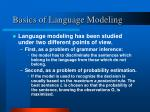 basics of language modeling