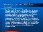 microsoft language modeling research1