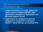 microsoft speech software development kit